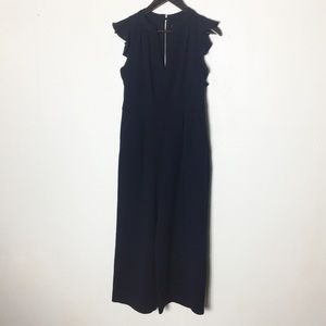 Vince Camuto Blue Sleeveless Wide Leg Jumpsuit